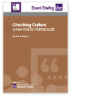 Checking Culture: a new role for internal audit